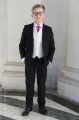 Boys Black & Ivory Suit with Hot Pink Tie - Roland