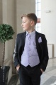 Boys Black & Lilac Scroll Jacket Suit - Roland