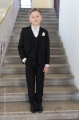 Boys Black Suit with Champagne Bow & Hankie - Marcus