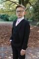 Boys Black Suit with Pale Pink Tie - Marcus