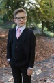 Boys Black Suit with Baby Pink Tie - Marcus