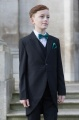 Boys Black Tail Coat Suit with Forest Green Dickie Bow Set - Ralph