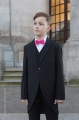 Boys Black Tail Coat Suit with Hot Pink Bow Tie - Ralph