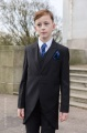 Boys Black Tail Coat Suit with Navy Cravat Set - Ralph