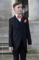 Boys Black Tail Coat Suit with Orange Dickie Bow Set - Ralph