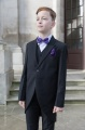 Boys Black Tail Coat Suit with Purple Dickie Bow Set - Ralph