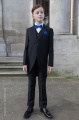 Boys Black Tail Coat Suit with Royal Dickie Bow Set - Ralph