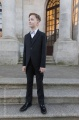 Boys Black Tail Coat Suit with Silver Bow Tie - Ralph