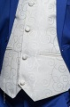 Boys Electric Blue & Ivory Suit with Ivory Satin Tie - Bradley