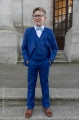 Boys Electric Blue Suit with Sky Blue Dickie Bow - Barclay