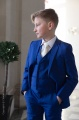 Boys Electric Blue Suit with Ivory Tie - Barclay