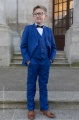 Boys Electric Blue Suit with Navy Dickie Bow - Barclay