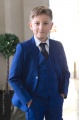 Boys Electric Blue Suit with Navy Tie - Barclay