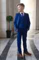 Boys Electric Blue Suit with Purple Tie - Barclay