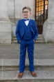 Boys Electric Blue Suit with Royal Blue Dickie Bow - Barclay