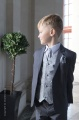 Boys Grey Scroll Jacket Suit - Oliver