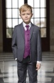 Boys Grey & Purple Diamond Jacket Suit - Lloyd