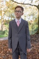 Boys Grey Tail Coat Suit with Baby Pink Tie - Earl