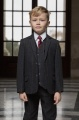 Boys Grey Tweed Check Jacket Suit - Henry