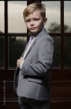 Boys Light Grey & Ivory Suit with Lilac Tie - Tobias