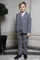 Boys Light Grey Jacket Suit with Pale Pink Tie - Perry
