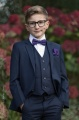 Boys Navy Suit with Purple Bow & Hankie - Stanley