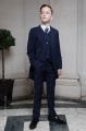 Boys Navy Tail Coat Suit - Edward