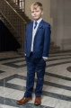 Boys Royal Blue & Ivory Suit with Navy Cravat Set - Walter
