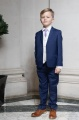 Boys Royal Blue & Ivory Suit with Lilac Tie - Walter