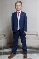 Boys Royal Blue & Ivory Suit with Red Tie - Walter