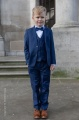 Boys Royal Blue Suit with Navy Bow & Hankie - George