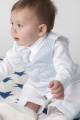 Baby Boys Ice Blue Paisley Wedding Suit - Finley
