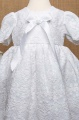 White Lace Flower Girl Dress with Ribbon Bow - Betsy