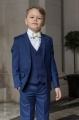 Boys Royal Blue Suit with Ivory Bow Tie - George