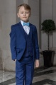 Boys Royal Blue Suit with Sky Blue Bow Tie - George