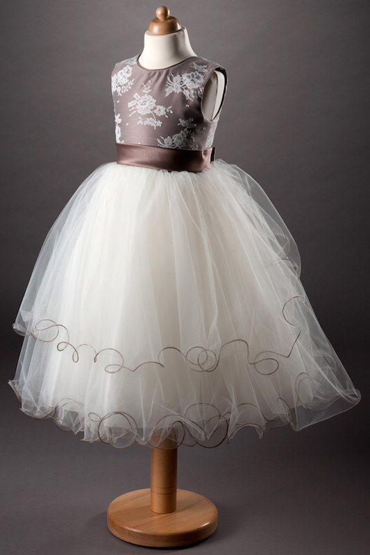 Busy B's Bridals Satin & Layered Tulle Dress - Bronte