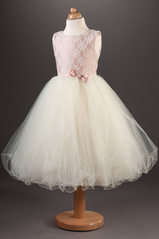 Busy B's Bridals Coloured Satin, Lace & Tulle Dress - Lucinda