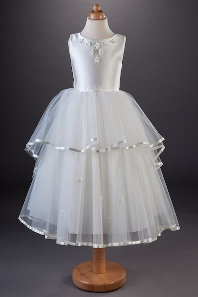 Busy B's Bridals Flower Ribbon Tulle Dress - Thea