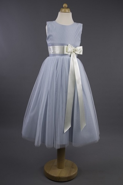 Busy B's Bridals Coloured Satin Bow Pearl Dress - Sam