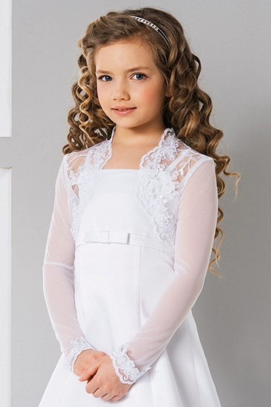 Lacey Bell Girls Elasticated Tulle & Lace Bolero - Style CJ151