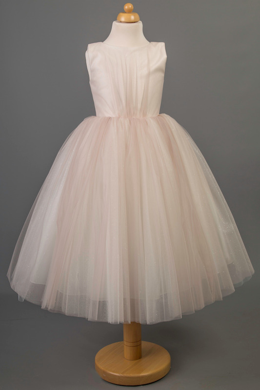 Busy B's Bridals Satin & Coloured Tulle Dress - Mia