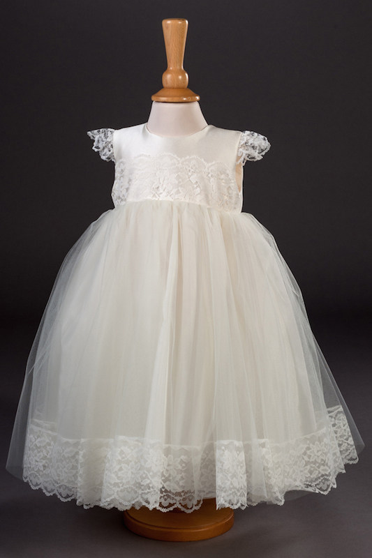 Millie Grace Satin & Lace Flower Girl Dress - Minnie