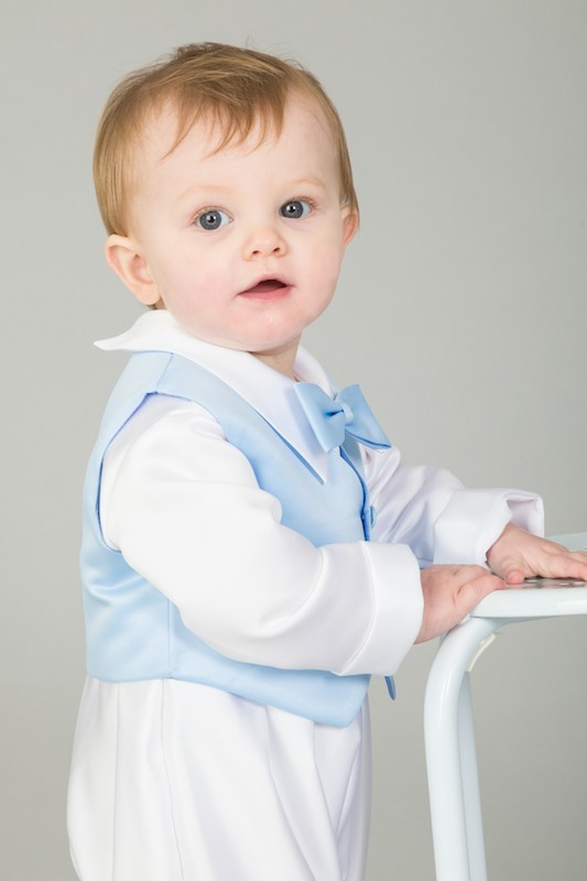 Baby Boys Blue Dickie Bow Waistcoat Outfit - Elijah