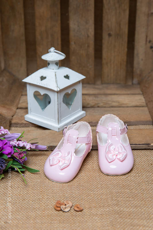 Baby Girls Pink Patent T Bar Shoes by Baypods