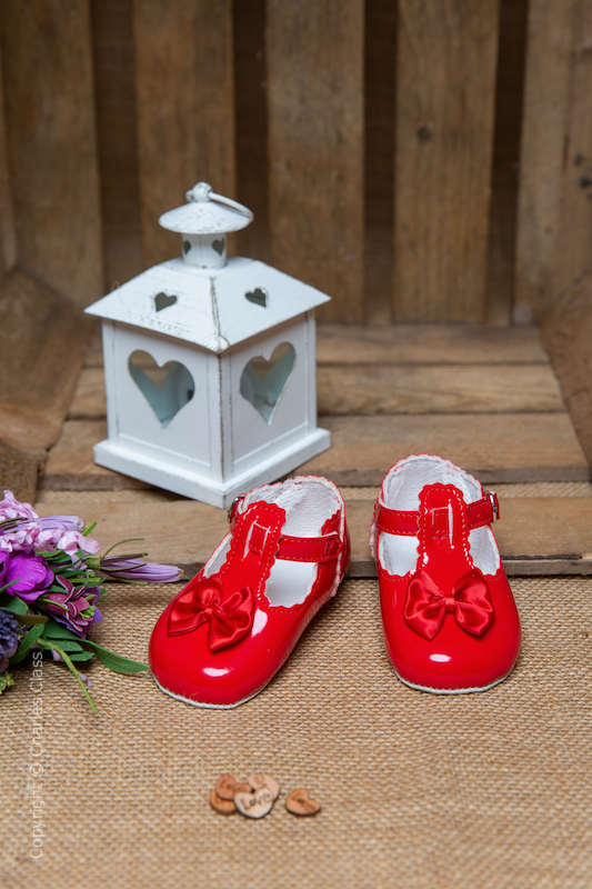 Baby Girls Red Patent T Bar Shoes by Baypods