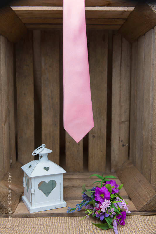 Boys Baby Pink Full Length Satin Tie