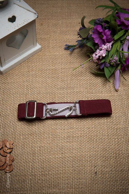 Boys Burgundy Formal Adjustable & Elasticated Snake Belt