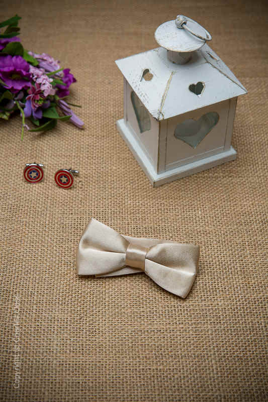 Boys Champagne Adjustable Satin Dickie Bow
