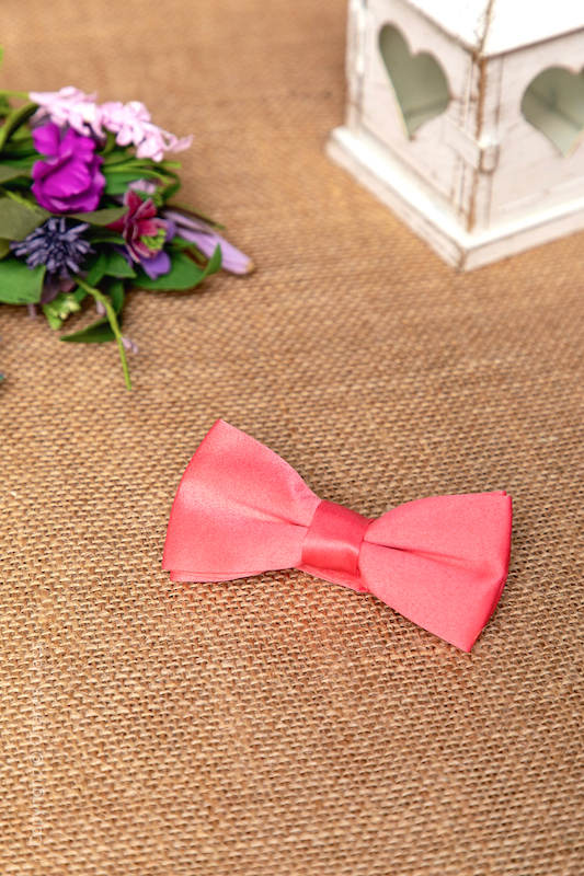 Boys Coral Adjustable Matt Satin Dickie Bow