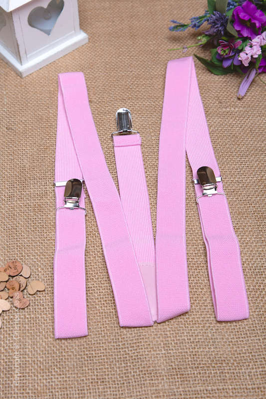 Boys Light Pink Adjustable & Elasticated Y-Back Braces